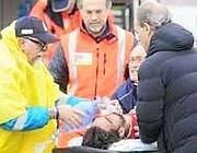 Piermario Morosini allo stadio di Pescara dopo il malore