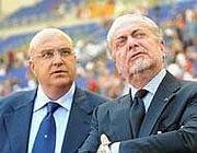 Marino con il suo vecchio presidente De Laurentiis