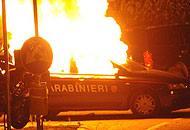 Auto incendiata dagli ultrà alla Bèrghem Fest nel 2010
