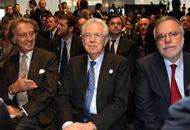 Mario Monti con Luca di Montezemolo e Andrea Riccardi