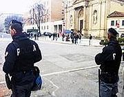 La polizia sul Sentierone