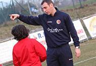 Damiano Zenoni allenatore dei ragazzini della Grumellese