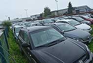 Un parcheggio vicino all'aeroporto