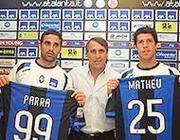 Rodriguez con Parra e Matheu