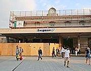 Il cantiere in stazione