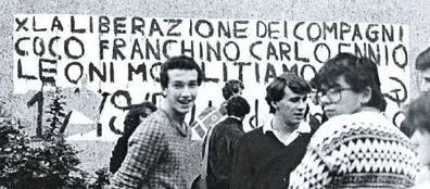 Ragazzi del Lussana nel 1980