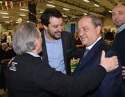 Salvini con il sindaco di Bergamo Franco Tentorio