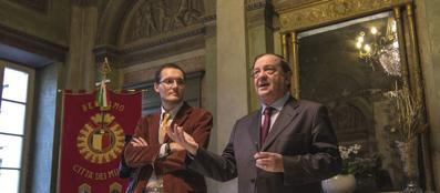 Il sindaco Tentorio e il portavoce Giorgio Lazzari