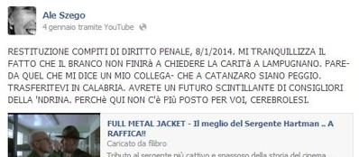 Il post incriminato