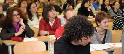 Studenti all'Università di Bergamo