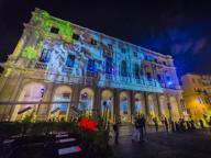 Lo spettacolo di luci in Piazza Vecchia