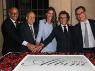 Albini, festa a Milano per i 140 anni con la madrina Sednaoui e i vip